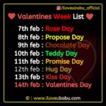 Valentines Week list 2021: Rose & Propose Day Special Shayari Images
