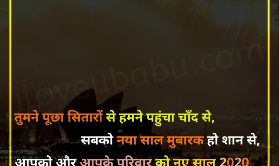 Happy New Year 2020 Wishes In Hindi – iloveubabu.com