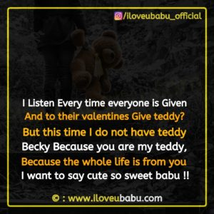 Teddy Day Image Quotes In English